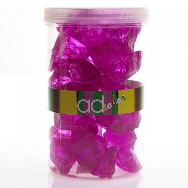 3 Crushed Glass Jars 5-8cm. 46 oz Hot Pink main image
