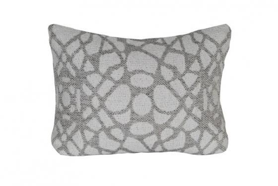 White and Grey Lumbar Pillow main image