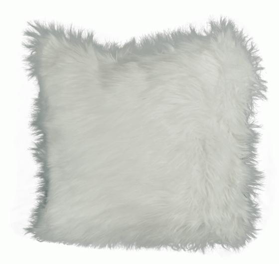 White Faux Fur Pillow main image
