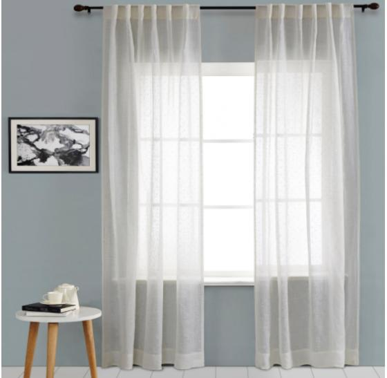 White Dots Curtains Set main image