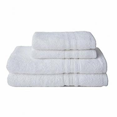 Luxe White Bath Towels main image