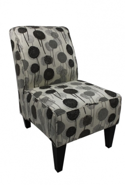 Wonderland Graphite Armless Chair  main image