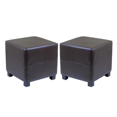 Espresso Leather Cubes (2) main image