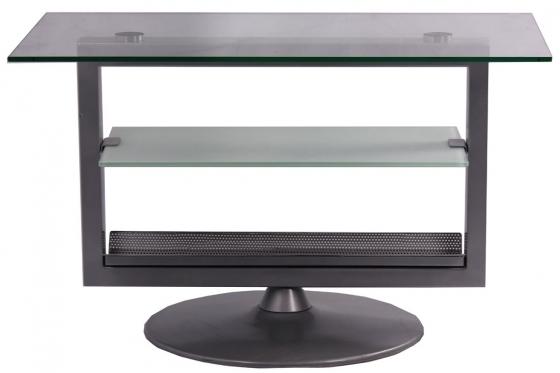 Glass and Metal TV Table main image