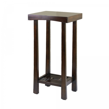Tall Wood Accent Table main image