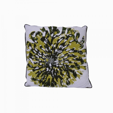 Shades of Green Flower Pillow main image