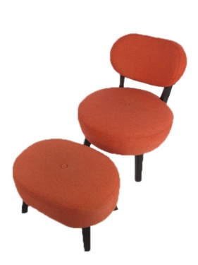 Area 51 Mad Men Chair and Ottoman main image