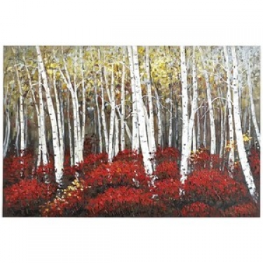 Red Birch Trees on Canvas Wall Art Print main image
