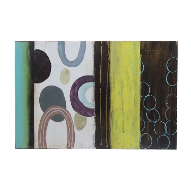 36x24 Circle Abstract Canvas Art main image