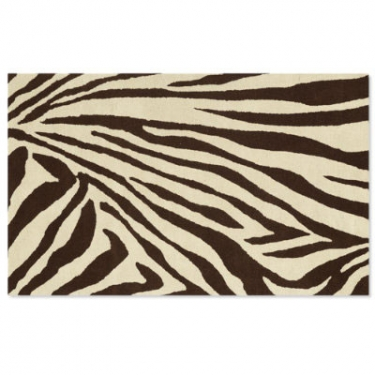 4x6-Brown/Cream Zebra  Rug main image