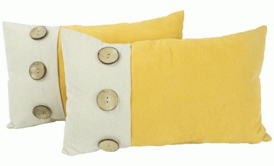 Yellow Throw Lumbar Pillows main image