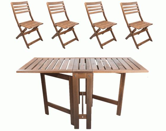 5 Piece wood outdoor set  main image