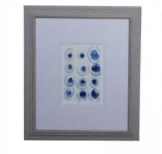 16x18 Framed Blue and White Art main image