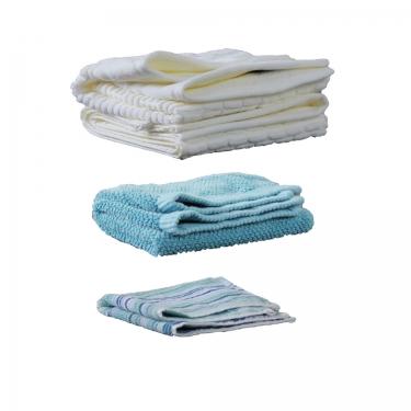 Ivory and Blue Towel Set (4) main image