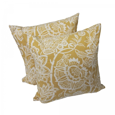 Golden Yellow Floral Pillows main image
