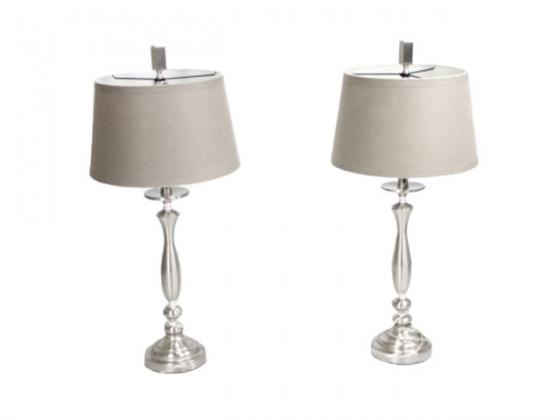 Set of 2 Silver lamps  main image