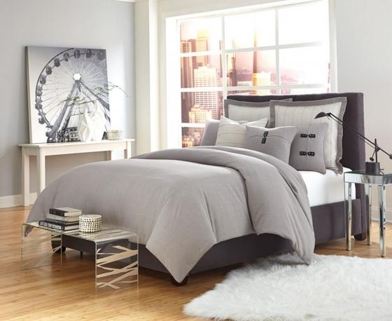 King Fusion Grey 7pc. Bed Set main image
