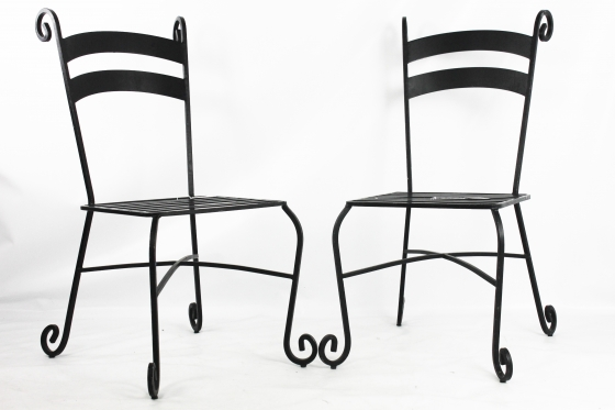 Black Metal Outdoor Chairs  main image