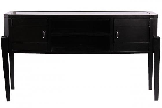 Sleek Black Console Table main image