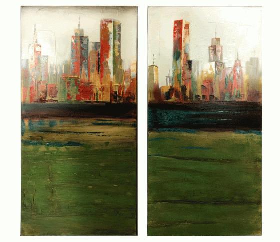City Scape Art Set of 2 main image