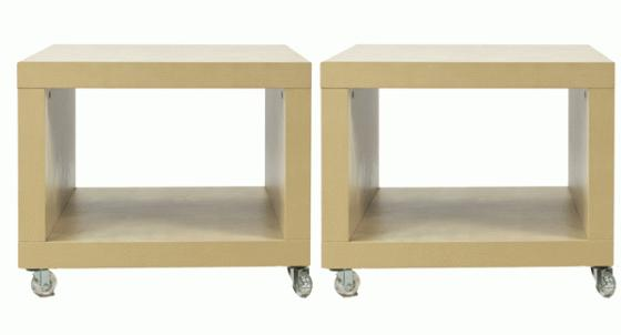 CUBES side tables, natural wood main image