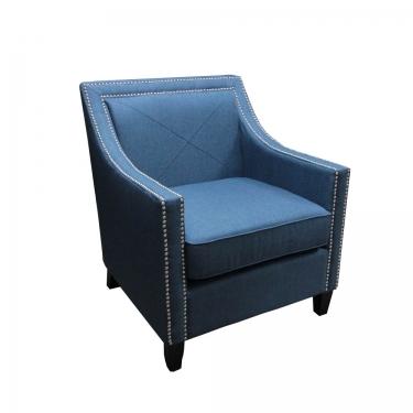 Blue Arm Chair w/ Nail Head Trim main image