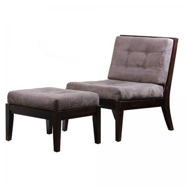 Mocha Chair w/ Ottoman main image