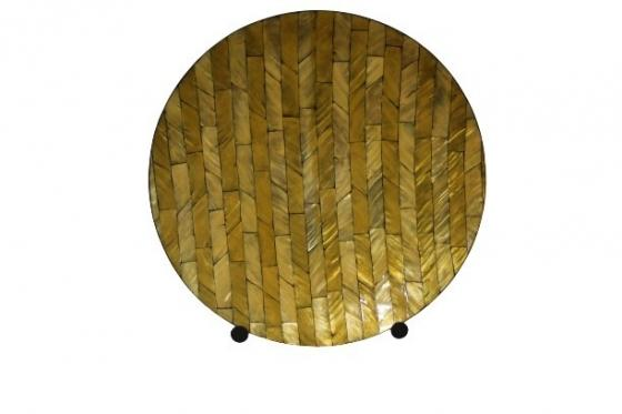 Large Decorative Saucer Plate on Metal Stand main image
