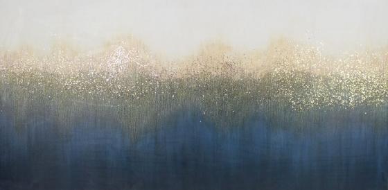 Deep Blue W/ Gold Glitter Canvas main image