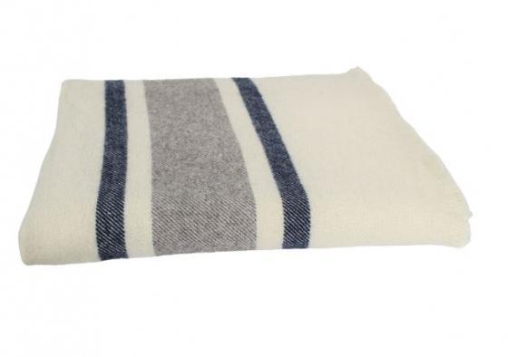 Cream w/ Blue & Grey Stripes main image