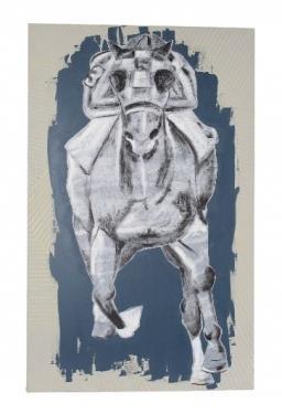 Grey Canvas Race Horse main image