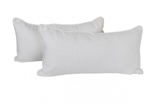 White Lumbar Pillows main image