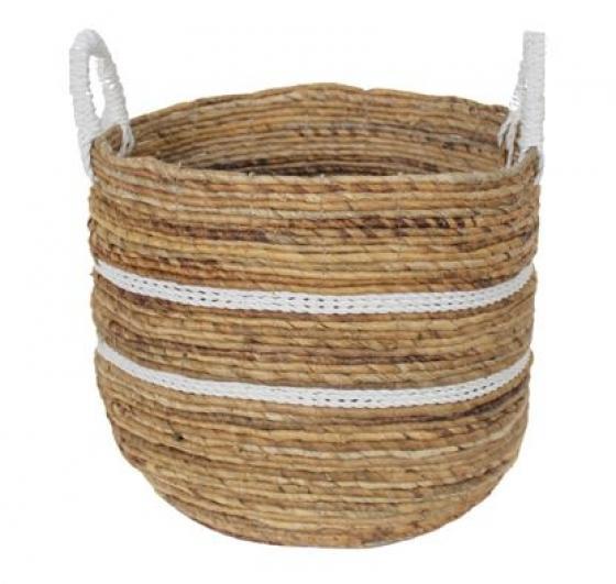 White Striped Basket main image