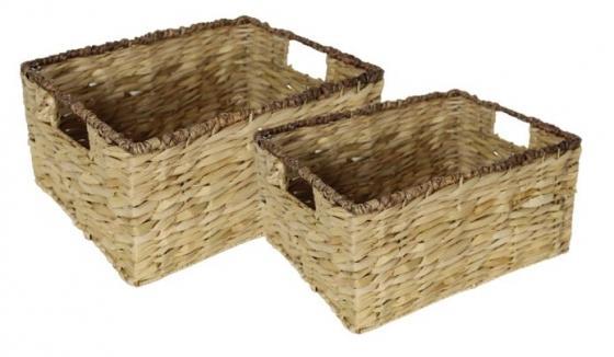 Stackable Baskets W/ Dark Trim main image