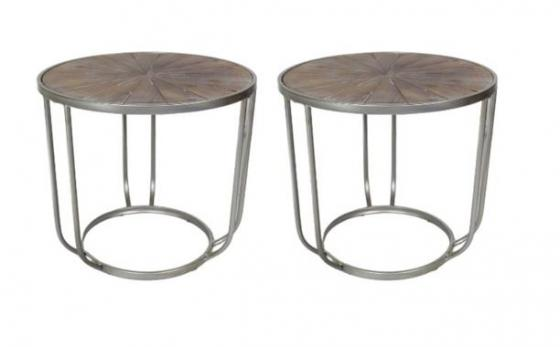 Round Wood Top Side Tables main image