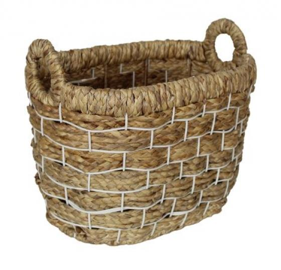 Woven Basket with White Trim Layers main image