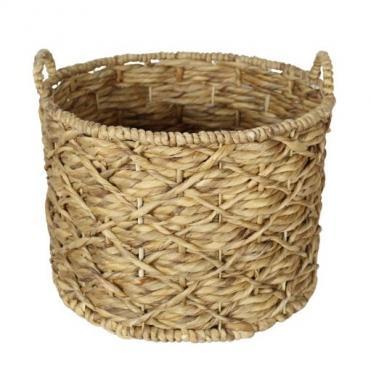Sturdy Round Wood Basket main image