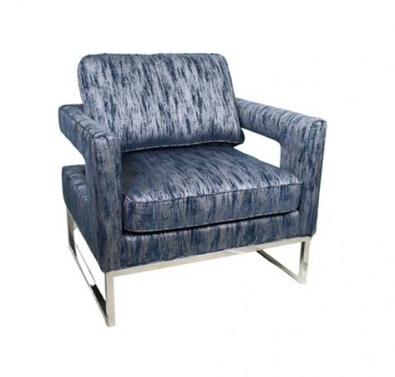 Blue and Silver Pattern Chair main image