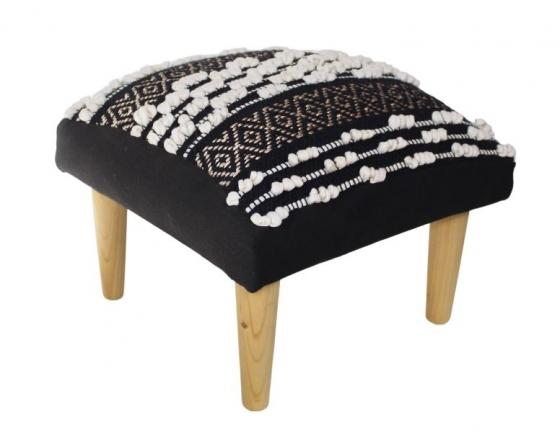 Black & White  Knit Ottoman main image
