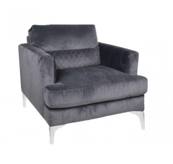 Dark Grey Velvet Chair main image