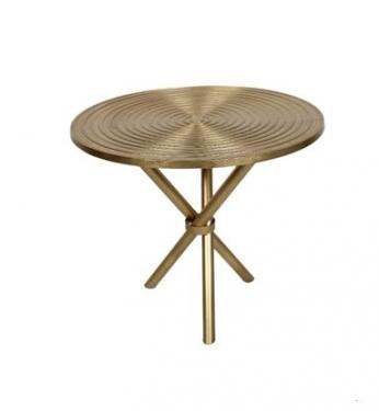 Gold Metal Side Table main image