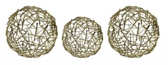Gold Wire Criss Cross Spheres main image
