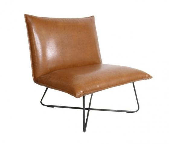 Brown Leather Pillow Chair