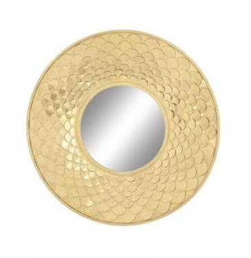 "Gold Scalloped Mirror 32"" main image"