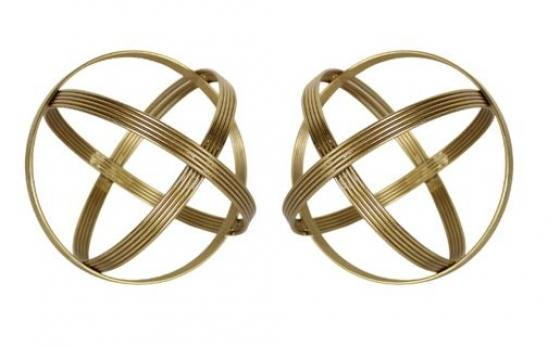 Gold Metal Infinity Spheres main image