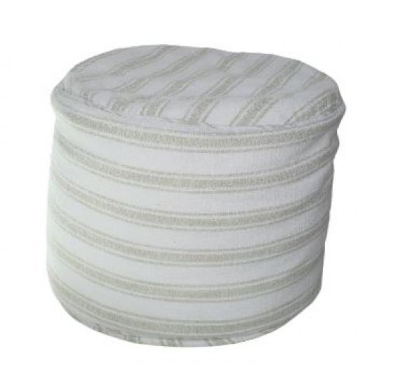 White and Grey Pouf main image