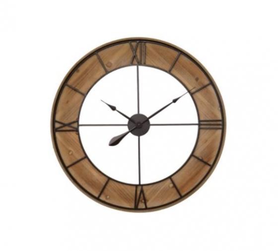 Wood & Metal Wall Clock