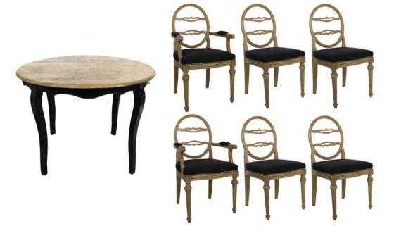 Round Dining Table Set W/ Extensions main image