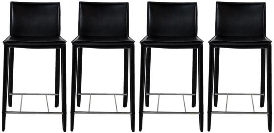 Black Leather Counter Stools main image