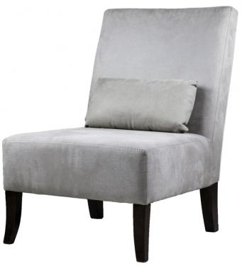Grey chair with Lumbar Pillow main image